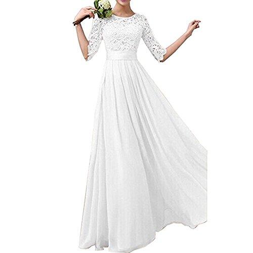 Bodenlanges Hochzeitskleid, Weiß