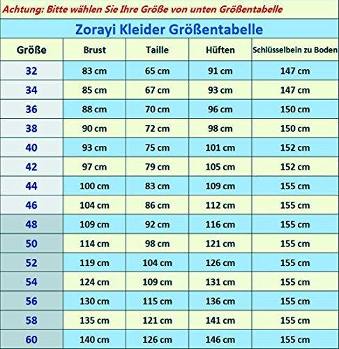 Zorayi Damen Liebsten Lang Tüll Formellen Abendkleid Ballkleid Festkleider Weiß Größe 34 - 4