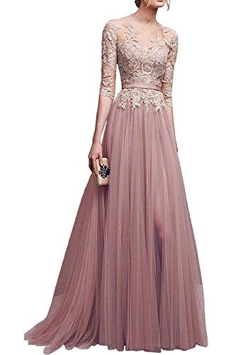 Hochwertige Abendkleider, Rosa (Nude Blush)