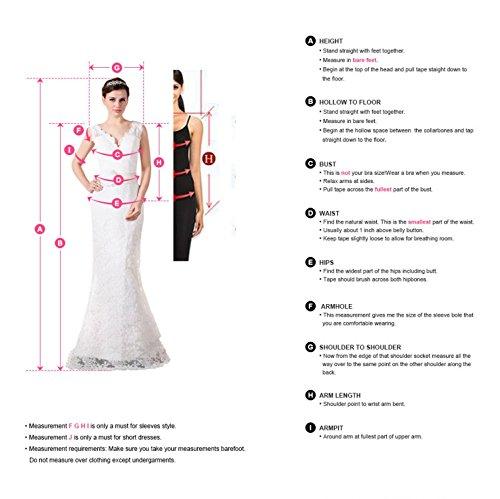 Babyonline Damen Huebsch Royalblau A-Linie Spitze Ballkleider Cocktail Abendkleider, Hellgrau, Gr. 32 - 7