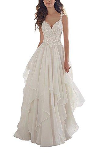 Lange Brautkleider mit Spitze