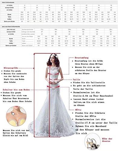 Lilybridal Brautkleider für die Braut aus Schulter Kristall Perle Spitze Hochzeitskleider 116 - 3