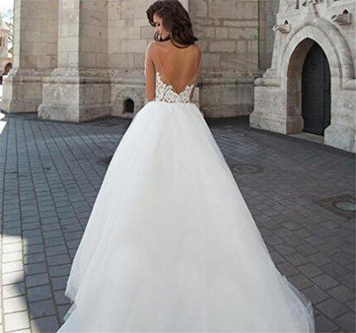 LUCKY-U Brautkleid Hochzeitskleid Lange Frau Dekoratives Tragen der Hochzeit Berührbares Material Elegantes Kleid , US6 - 3