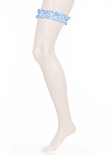 GLAMORY Damen Strumpfhose Garter Strumpfband-Light-Blue-Einheitsgröße, 100 DEN, Blau G-50375, One Size - 3