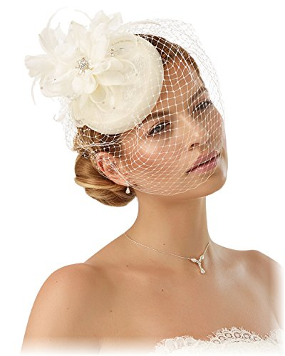 BrautChic FASCINATOR Mini Brauthut - CREME