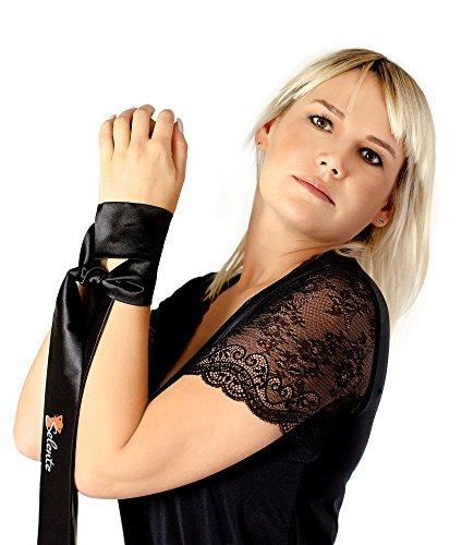 Selente verführerisches 3-teiliges Damen Dessous-Set aus Korsett, String & Satin-Augenbinde Made in EU, weiß, Gr. L/XL - 6