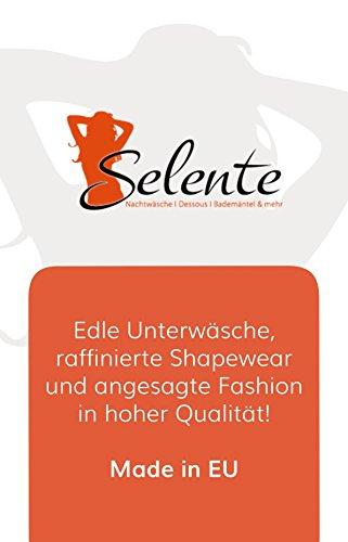 Selente verführerisches 3-teiliges Damen Dessous-Set aus Korsett, String & Satin-Augenbinde Made in EU, weiß, Gr. L/XL - 7