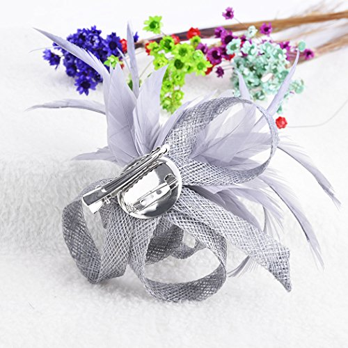 Kapmore Womens Damen Fascinator Hut Brosche Pin Tea Party Derby Hochzeit Zubehör -