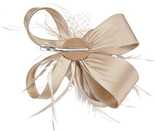 Fascigirl Fascinator Braut Hochzeit feder Haarclip Cocktail Party Hut haarschmuck -