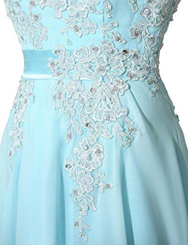 Clearbridal Damen Chiffon Lange Ballkleider Abschusskleider Abendkleider mit Applikation CSD181 Königsblau Gr.EU42 - 3