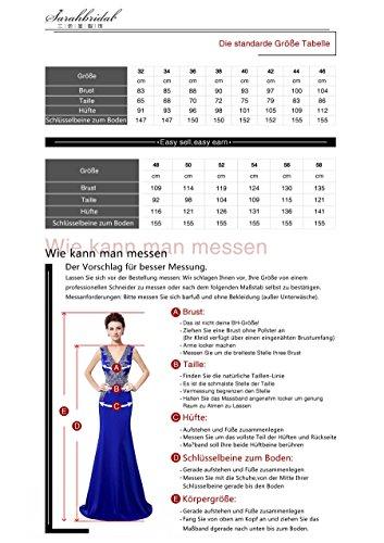 Clearbridal Damen Chiffon Lange Ballkleider Abschusskleider Abendkleider mit Applikation CSD181 Königsblau Gr.EU42 - 7