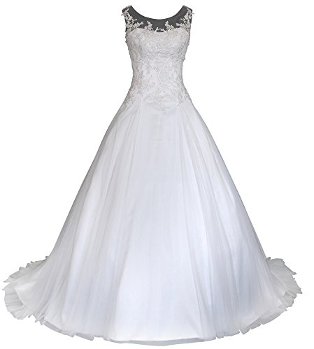 Romantic-Fashion Brautkleid, Satin, Stickerei, Perlen