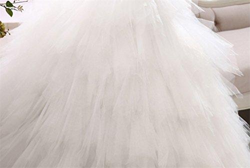ELEGENCE-Z Hochzeitskleid, Ärmellose Tube Top Braut Qualität Spitze Diamant Dünne Feder Qi Prinzessin Brautkleid,L - 7