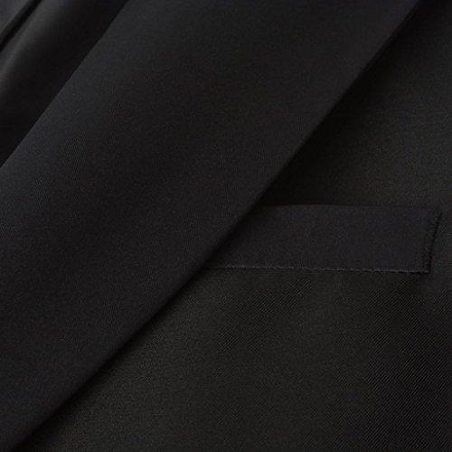 vidaXL 2tlg. Herren Frack-Anzug Bräutigam Anzug Hochzeit Slim-Fit Schwarz Gr. 50 - 3