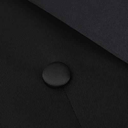 vidaXL 2tlg. Herren Frack-Anzug Bräutigam Anzug Hochzeit Slim-Fit Schwarz Gr. 50 - 4