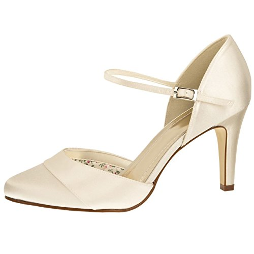 Else by Rainbow Club Brautschuhe Passionberry Ivory Satin