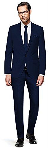 PABLO CASSINI Herren Anzug Fine Art, 3 teilig, Marineblau