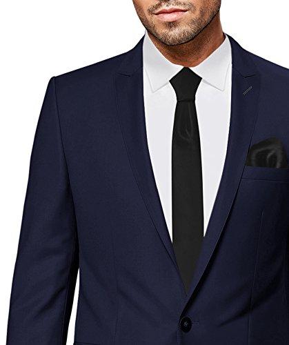 PABLO CASSINI Herren Anzug Fine Art - 3 teilig - Marineblau Blau Smoking Ein-Knopf Hochzeit Business PCS_3 (56) - 2