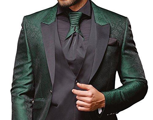 Herren Anzug - 8 teilig - Schwarz Grün Designer Hochzeitsanzug TOP ANGEBOT NEU PC_11 (56) - 2