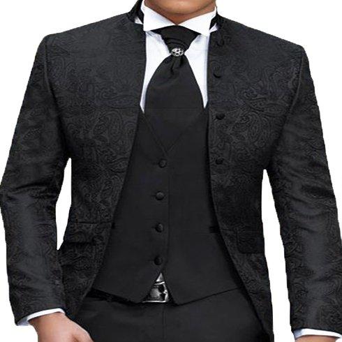 Herren Anzug - 8 teilig - Schwarz Paisley Designer Hochzeitsanzug TOP ANGEBOT PC_02 (56) - 2