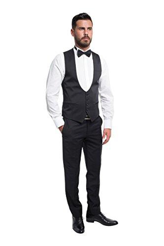 prestije.de Bräutigam Anzug Vierteiler mit Musterung, Farbe:Schwarz, Größe:54 - 4