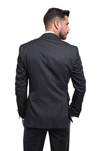 prestije.de Bräutigam Anzug Vierteiler mit Musterung, Farbe:Schwarz, Größe:54 - 5