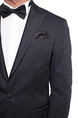 prestije.de Bräutigam Anzug Vierteiler mit Musterung, Farbe:Schwarz, Größe:54 - 6