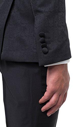 prestije.de Bräutigam Anzug Vierteiler mit Musterung, Farbe:Schwarz, Größe:54 - 7