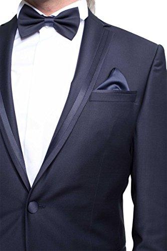 prestije.de Bräutigam Anzug Vierteiler mit eleganten Glanz, Farbe:Schwarz, Größe:58 - 3