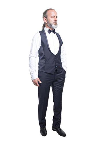 prestije.de Bräutigam Anzug Vierteiler mit eleganten Glanz, Farbe:Schwarz, Größe:58 - 4