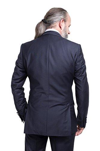 prestije.de Bräutigam Anzug Vierteiler mit eleganten Glanz, Farbe:Schwarz, Größe:58 - 5