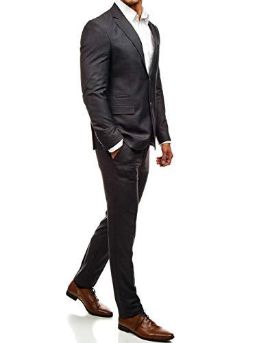 BOLF Herren Anzug Sakko Classic Slim Fit 1J2