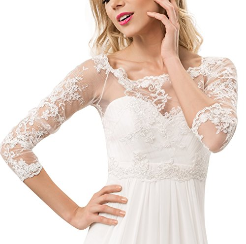 Spitze Bolerojackchen für die Braut mit Perlen