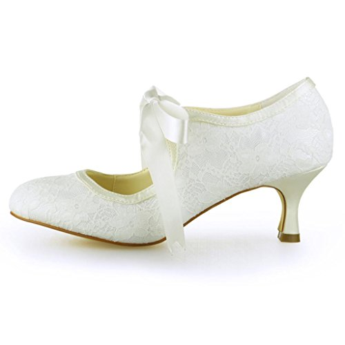 Jia Jia Wedding 14031 Hochzeitsschuhe Brautschuhe Damen Pumps Beige, EU 38 -