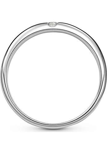 CHRIST Diamonds Damen-Ring 333er Weißgold 1 Brillanten ca. 0,06 Karat weißgold, 52 (16.6) - 3