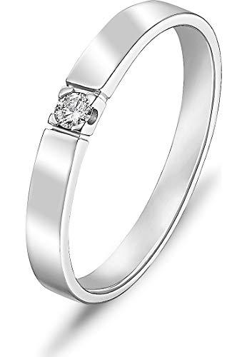 CHRIST Diamonds Damen-Ring 333er Weißgold 1 Brillanten ca. 0,06 Karat weißgold, 56 (17.8)
