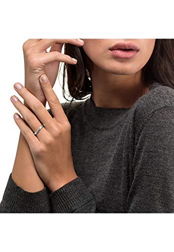 CHRIST Diamonds Damen-Ring 333er Weißgold 1 Brillanten ca. 0,06 Karat weißgold, 56 (17.8) - 2