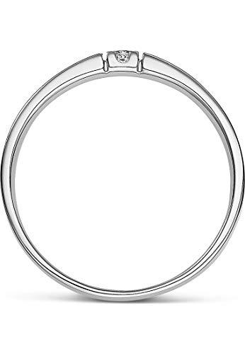 CHRIST Diamonds Damen-Ring 333er Weißgold 1 Brillanten ca. 0,06 Karat weißgold, 56 (17.8) - 3