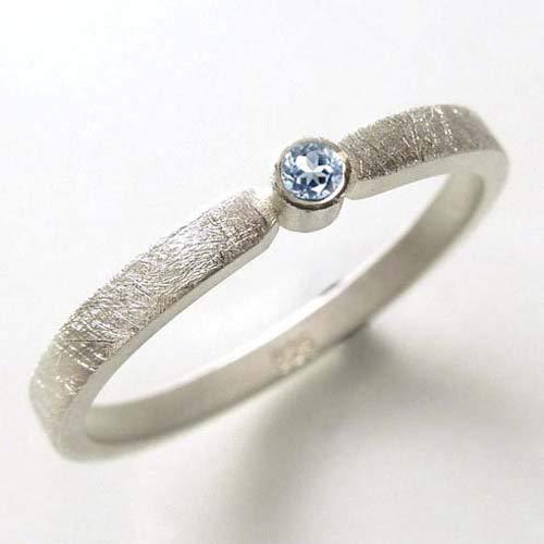 Silberring mit Topas blau - Verlobungsring, Vorsteckring