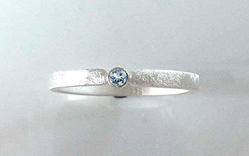 Silberring mit Topas blau - Verlobungsring, Vorsteckring, Verlobung - handgefertigt by SILVERLOUNGE - 2
