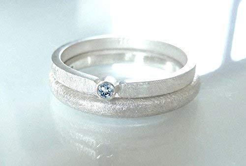 Silberring mit Topas blau - Verlobungsring, Vorsteckring, Verlobung - handgefertigt by SILVERLOUNGE - 3