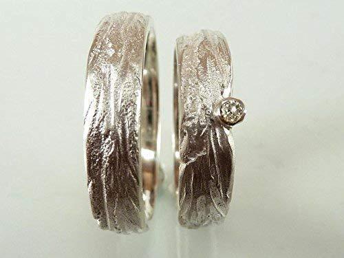 Einzigartige Trauringe in Silber mit Zirkonia, individuell strukturiert - handgefertigt by SILVERLOUNGE - 2