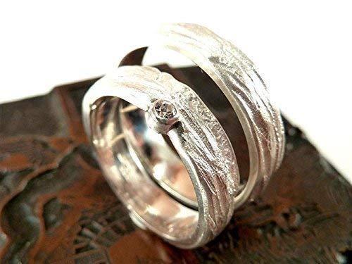Einzigartige Trauringe in Silber mit Zirkonia, individuell strukturiert - handgefertigt by SILVERLOUNGE - 4