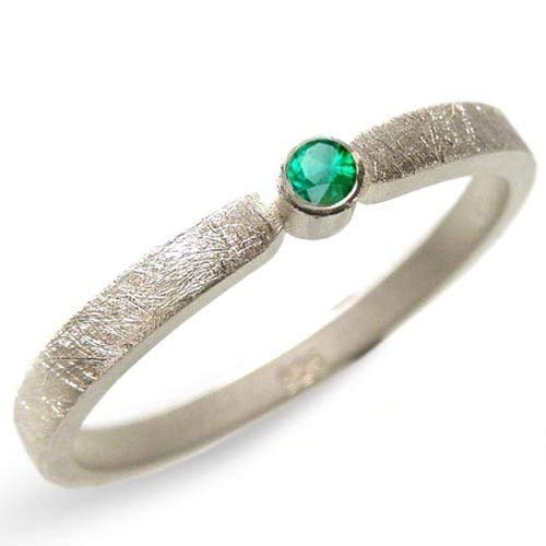 Silberring mit Smaragd Verlobungsring