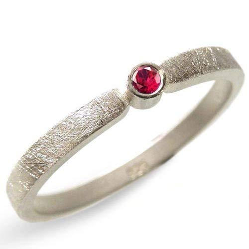 Silberring mit Rubin Verlobungsring
