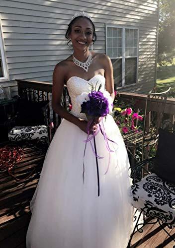 Beautyprom Frauen Ballkleid Brautkleider (38, Elfenbein) - 4