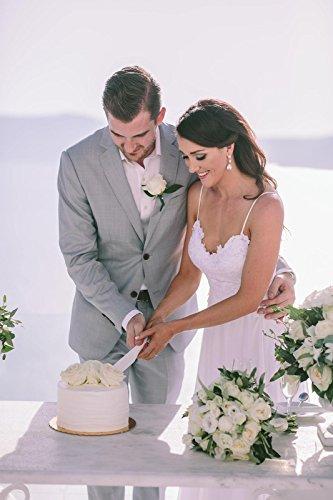NUOJIA Sexy Rückenfrei Chiffon Spitzen Boho Böhmischen Brautkleider Strand Lange hochzeitskleid Weiß 36 - 4
