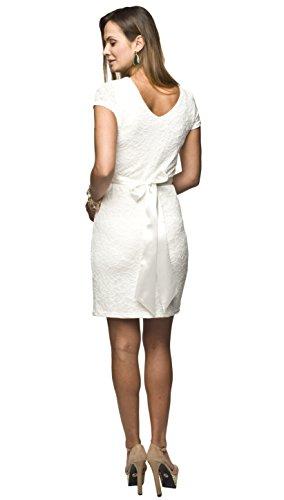 Elegantes und bequemes Umstandskleid, Brautkleid, Hochzeitskleid für Schwangere Modell: Lace, weiss/creme, M - 3