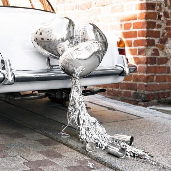 Auto Deko Set silber