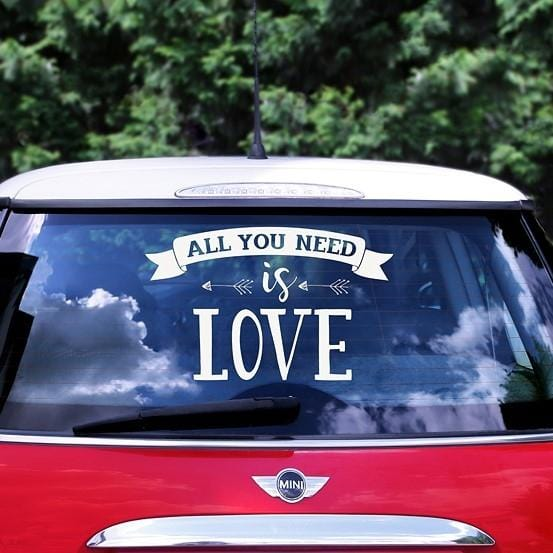 Autoaufkleber All you need is love